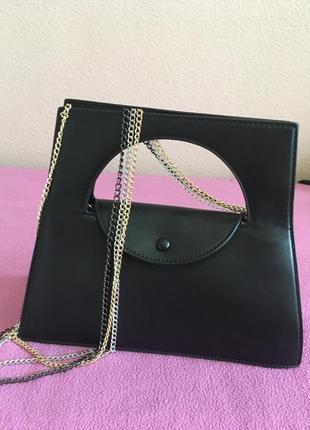 Чёрная элегантная сумка2 фото