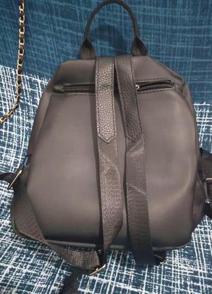 Хит ! стильный женский рюкзак-сумка. черный. жіночий рюкзак4 фото