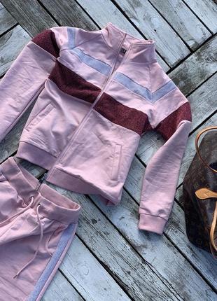 Крутой яркий тёплый прогулочный костюм хлопок3 фото