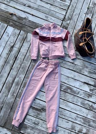 Крутой яркий тёплый прогулочный костюм хлопок5 фото