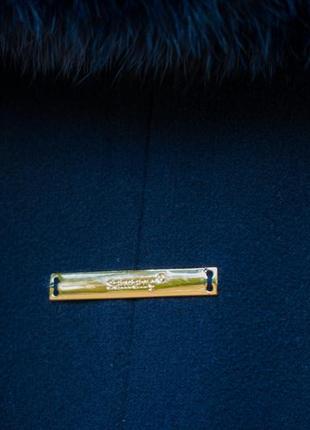 Женское пальто свободный крой фасон шерстяное миди за колено 44 s m5 фото