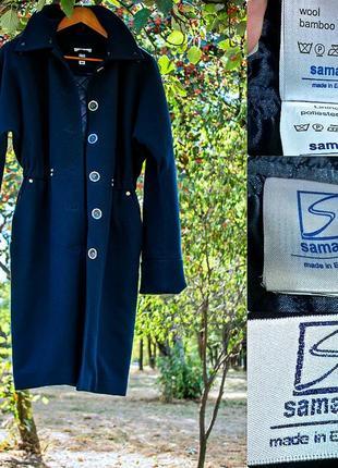 Женское пальто свободный крой фасон шерстяное миди за колено 44 s m3 фото