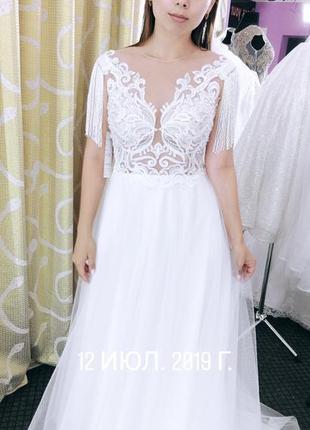Прекрасное свадебное платье!2 фото