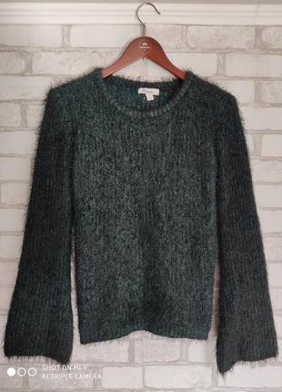 Вязаный свитер. свитер травка1 фото
