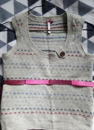 100% шерсть жилетка на рубашку или футболку4 фото
