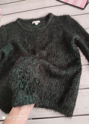 Вязаный свитер. свитер травка3 фото