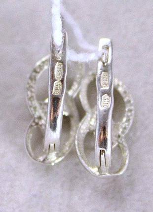 Серьги серебро 925 проба. новые с биркой.4 фото
