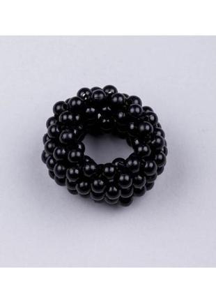 Резинка для волос с чёрным жемчугом1 фото