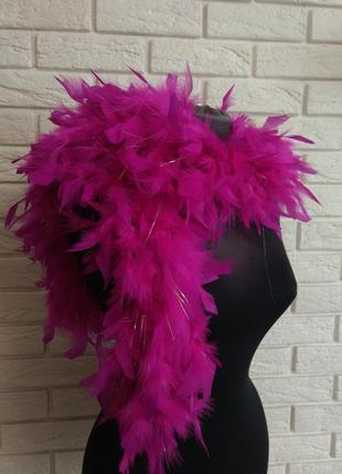 Красивый шарф боа натуральные перья2 фото