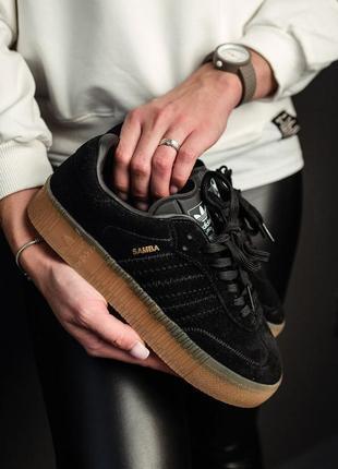 Кроссовки adidas samba black2 фото