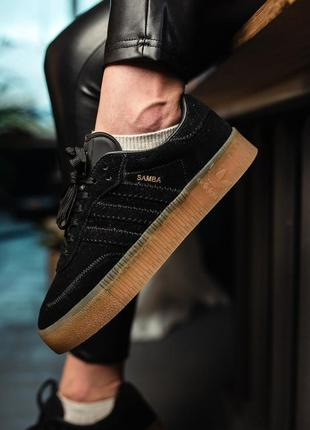 Кроссовки adidas samba black3 фото
