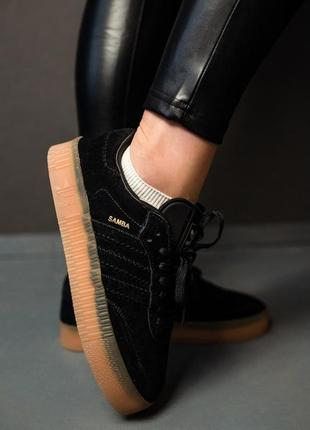 Кроссовки adidas samba black7 фото