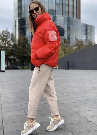Шикарный пуховик дутая куртка яркая тёплая объемная