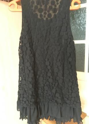 Вечернее платье-мини чёрное