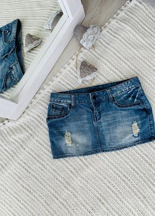 Джинсова спідниця,юбка джинсовая