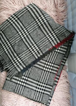 Стильний теплющий трендовий шарф, двохсторонній