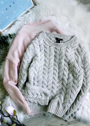Идеальный нюдовый свитерок в косы h&m