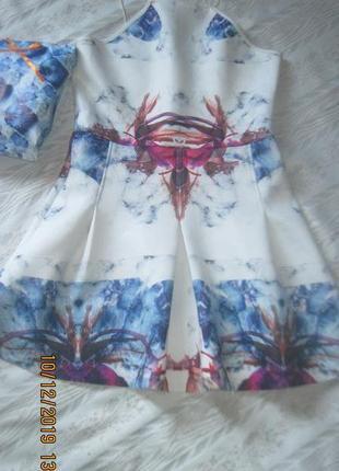 Акция на день! стильное платье с абстрактным принтов беби-долл
