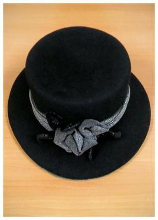 Женская фетровая шляпа, шляпка с полями.