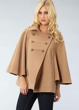 Пальто пончо в стиле милитари dorothy perkins черное