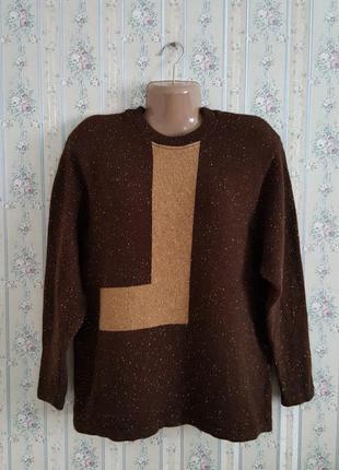 Шерстяной мягкий свитер, разм. 52