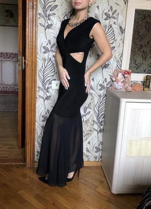 Женское нарядное элегантное длинное платье в пол