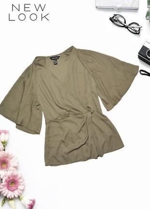 Футболка - блуза с широкими рукавами new look