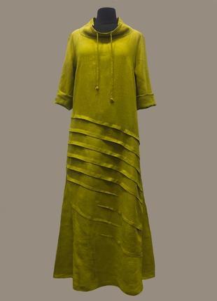 Льняное платье, платье из натуральнй ткани, платье в стиле бохо