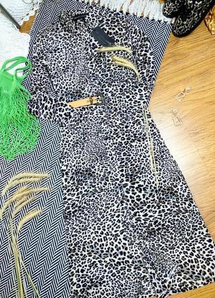 Плать макси в леопардовый принт