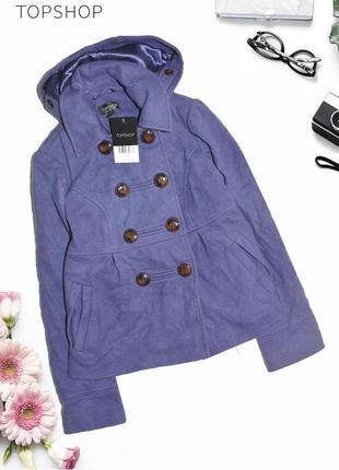 Пальто с капюшоном topshop