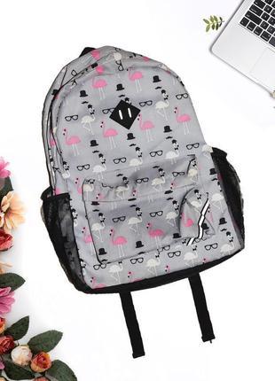 Рюкзак с принтом из фламинго atmosphere