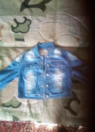 Куртка джинсовая болеро.