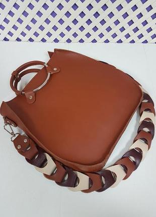 Оригинальная сумка из натуральной кожи, гончарная глина
