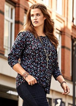 Романтичная джерси блуза в принтованный цветочный узор от tchibo, германия