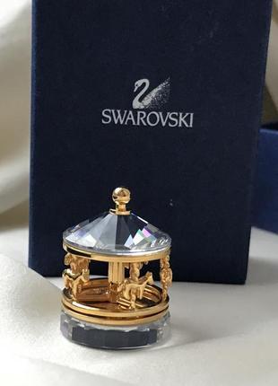 Swarovski фигурка миниатюра карусель 🎠