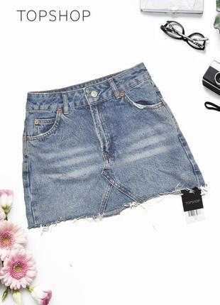 Новая джинсовая юбка topshop