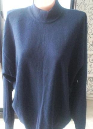 Шерстяной свитер джемпер большой размер италия