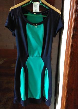 Платье весна-лето l. идеальное состояние.cине-бирюзовый цвет. 150грн.