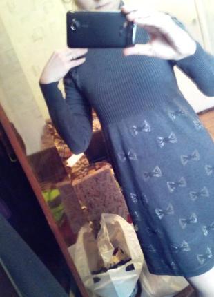 Теплое миди платье платье для беременной