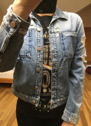 Джинсовая куртка asos стиль грандж
