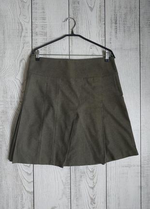 Шерстяная юбка миди burberry london рр 12.оригинал.