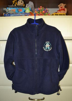 Тёплая флисовая кофта-мастерка blue max. рост 122-128.