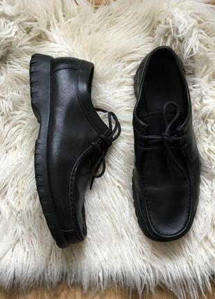 Натур. кожаные туфли ботинки 43