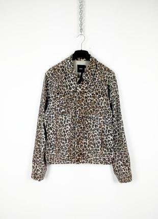 Леопардовая джинсовка от asos
