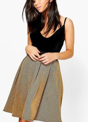 Стильная золотистая юбка / на l - xl