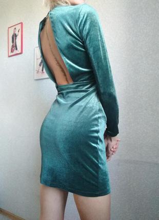 Новое платье h&m тёплое открытая спина рукав