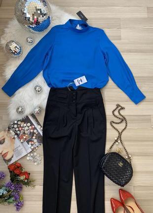 Комплект брюки с высокой посадкой и блуза премиум р 38 м