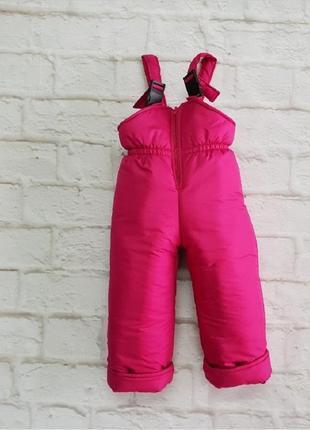 Зимние штаны, полукомбинезон на девочку, на рост от 80 до 140 см