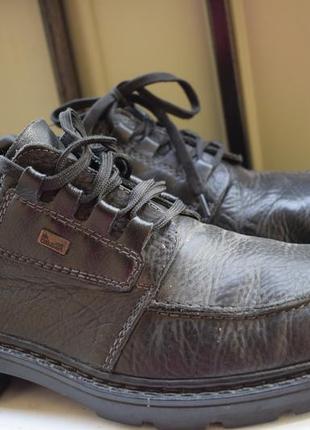 Мембранные полуботинки туфли кожаные