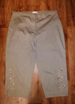 🌺🎀🌺красивые женские укороченные брюки, штаны, бриджи, капри 20 р. bonmarche🔥🔥🔥